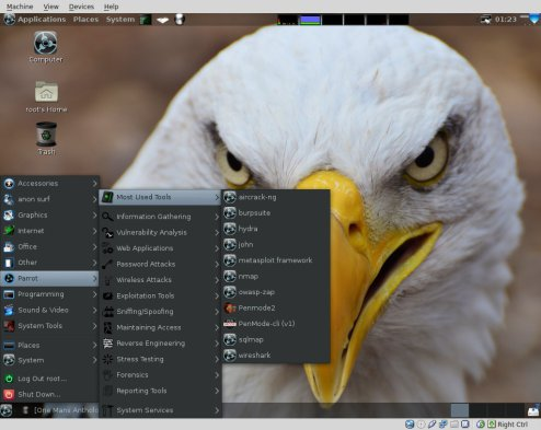 Parrot-Security-OS-most-used
